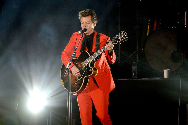 Harry Styles performing we WE Stand Together event.
