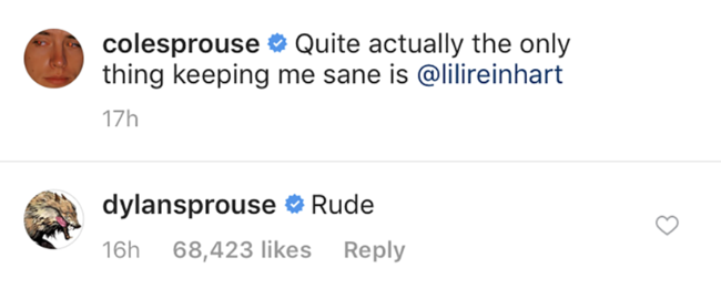 Dylan Sprouse has a sassy response to Cole Sprouse's V Day message